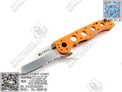 "C.R.K.T 哥伦比亚河 CRM16-12ZE E.R.-Tanto - Orange Handle M16系列橙色救援Tanto""折"""