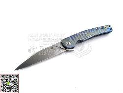 """KIZER KI3457A2 CPM-S35Vn钢 幻彩6AL4V Titanium 钛金属柄""""折""""(现货)"""