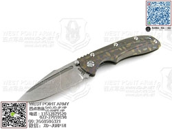 "KIZER KI412A2 CPM-S35Vn钢 彩色斑点热处理6AL4V Titanium 钛金属柄""折"""