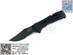 "SOG 索格(哨格)TF-21 Trident Mini-Black TiNi三叉戟助力快开""折"""