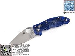 "Spyderco 蜘蛛 C101PBL2 Manix2 Blue Lightweight 马尼克斯2代 蓝色轻型""折"""