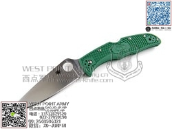"Spyderco 蜘蛛 C10FPGR Endura 4 Flat 颠峰战士FRN柄""折""(现货)"