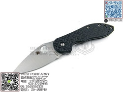 "Spyderco 蜘蛛 C172CFTIP Domino CTS-XHP 钢材 G-10+碳纤维+钛合金柄""折"""