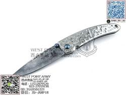 "MCUSTA 传世家徽 MC-113D Tsuchi 槌(Hammered)  大马士革钢 420J2钢柄""折"""