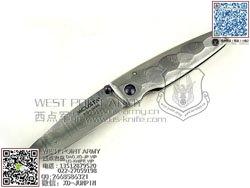 "MCUSTA 传世家徽 MC-34D 和风设计大马士革钢 �� ""折"""