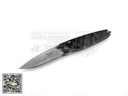 "MCUSTA 传世家徽 MCUSTA-79D 大马士革钢 槌 非洲黑乌木 ""折""(现货)"