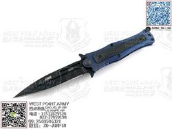 """HTM DDR MM4SBLB-S  Madd Maxx 4系列 CPM S35VN DLC钻石涂层 蓝色航空钛合金+G10柄 手工助力快开""""折"""""""