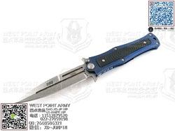 """HTM DDR MM4SBLW Madd Maxx 4系列 CPM S35VN  蓝色热处理航空钛合金柄 手工助力快开""""折"""""""