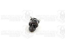 schmuckatellico Aquilo Sugar Skull Bead- Pewter 古罗马人骷髅头刃坠配件