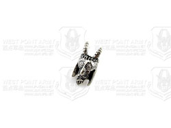 schmuckatellico USN Tactical Goat Bead-Black Ox. Pewter 美国海君羊头刃坠配件