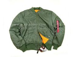 美国 ALPHA 阿尔法 Boys MA-1 Jacket 飞行夹克 尼龙面料 舒适耐用 绿色