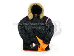 美国 ALPHA 阿尔法 Slim Fit N-3B Parka 防风保暖 经典美君N-3B大衣 黑色(特价-现货)