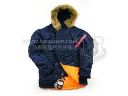 美国 ALPHA 阿尔法 Slim Fit N-3B Parka 防风保暖 经典美君N-3B大衣 蓝色(特价-现货)