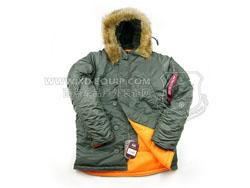 美国 ALPHA 阿尔法 Slim Fit N-3B Parka 防风保暖 经典美君N-3B大衣 绿色(特价-现货)