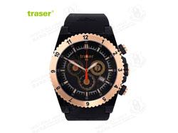 [全球联保] 瑞士机芯 Traser T7404 Classic Carbon Pro 经典玫瑰金表手表
