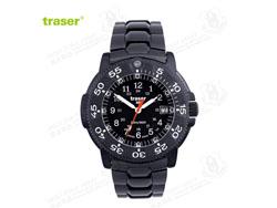 [全球联保] 瑞士机芯 Traser P6504 330 Black Storm 黑色风暴纪念版 钢制表带 手表