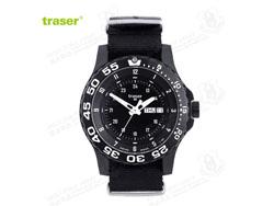 [全球联保] 瑞士机芯 Traser P6600 美君现役君用手表 红色夜光尼龙表带