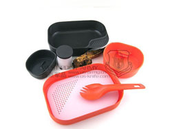 瑞典WILDO 户外便携行君餐具/饭盒/餐盒 环保 野外 露营 不含BPA 彩色套装